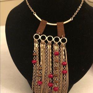 Jewelry - Boho fringe chain necklace